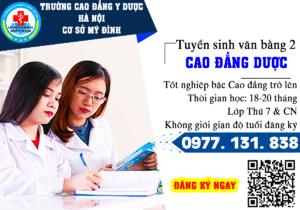 Học phí văn bằng 2 Cao đẳng Dược tại Hà Nội năm 2021 là bao nhiêu?