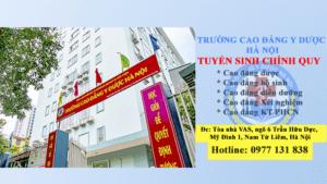 Trường cao đẳng y dược Hà Nội tuyển sinh 2021